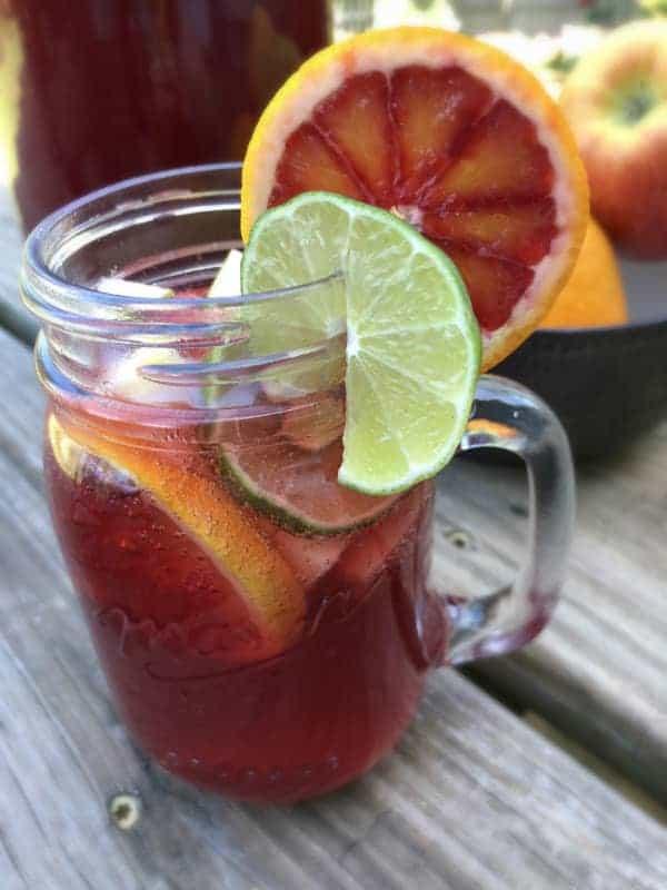 Virgin Sangria Mocktail