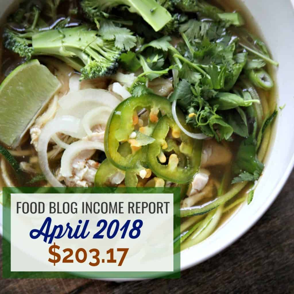 Blog Income Report for April 2018 for Thyme and JOY
