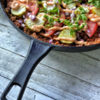 This paleo hamburger skillet tastes like your favorite fast food burger with a healthy twist featuring homemade Thousand Island Dressing. #paleo #whole30 #keto