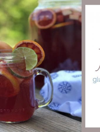 fruit sangria mocktail in mason jar