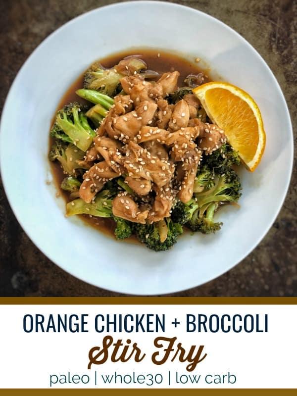 Orange Chicken and Broccoli Stir Fry
