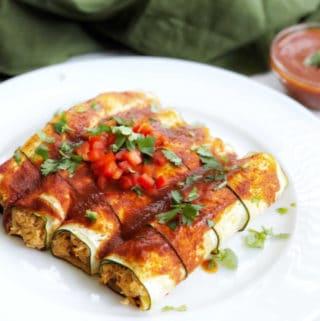 chicken zucchini enchiladas