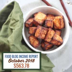 Blog Income Report October 2018 : Find out how I made $563.78 through my blog with various strategies.#blog #foodblog #sidehustle