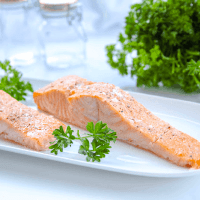 This easy recipe for 7 minute salmon will have a nutrient dense protein on the table quick! This recipe uses few ingredients and is broiled in the oven.