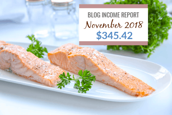 Blog Income Report November 2018 : Find out how I made $345.42 through my blog with various strategies.