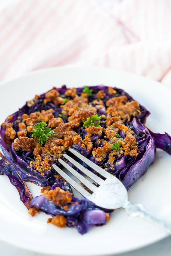 purple cabbage slice