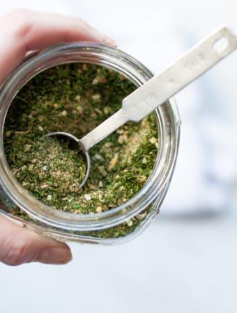 ranch seasoning in glass jar