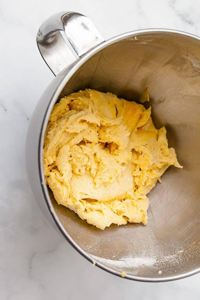 lemon crinkle cookie dough
