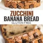 zucchini banana bread pin