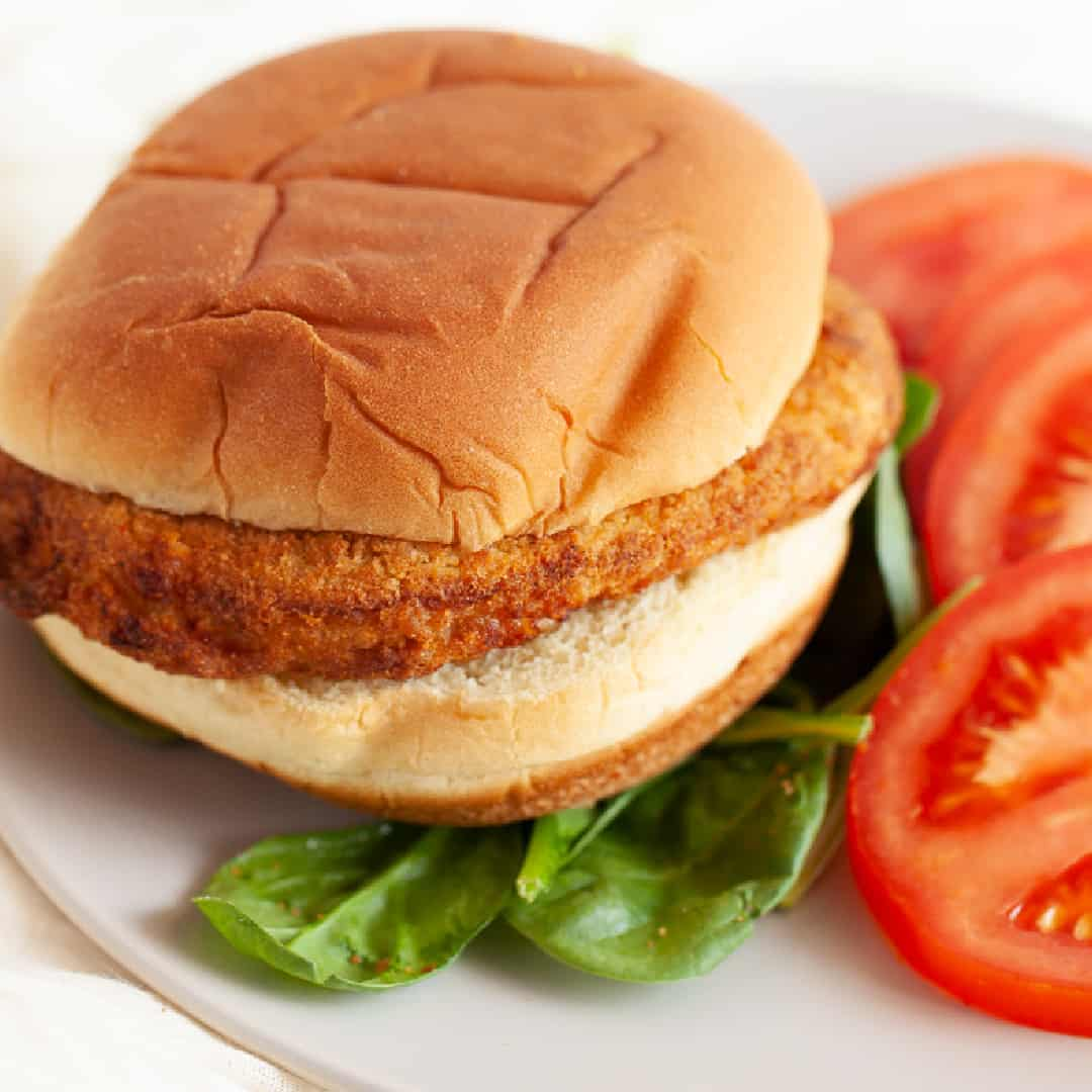 air fryer chicken burger