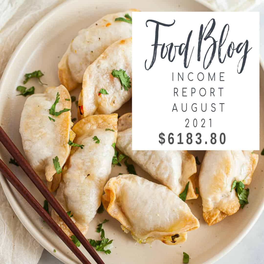 food blog income report august 2021